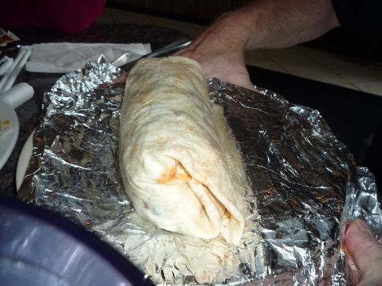 the dirty gringo - a giant breakfast-like burrito