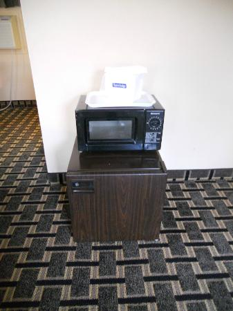 Travelodge South Burlington: Microwave oven and a small refrigerator