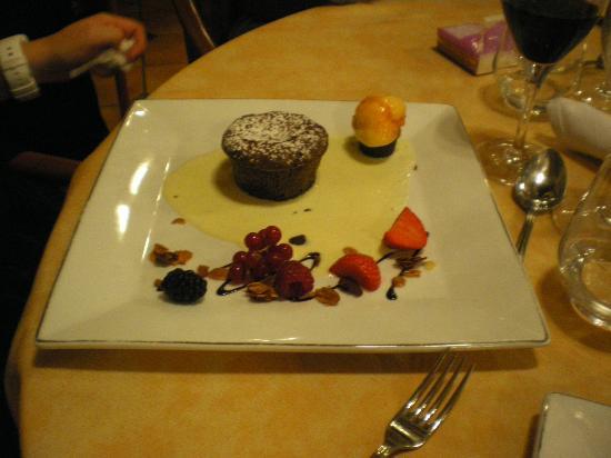 Auberge de la Vieille Ferme: mi-cuit chocolat