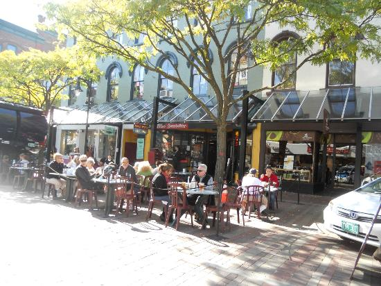 Church Street Marketplace: What a wonderful place just to stay with your friends...