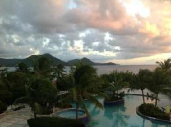 Sandals Grande St. Lucian Spa & Beach Resort: View from room 3309
