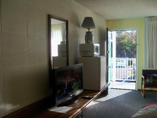 Gretna Inn: Flat screen tv, microwave, and refrigerator.