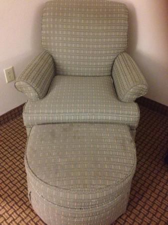 Wingate By Wyndham Charlotte Airport I-85 / I-485: stains in chair