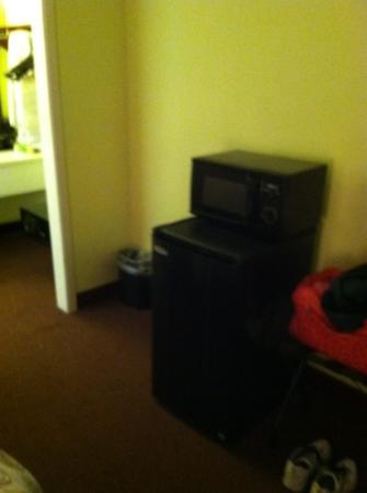 Hotel Inn: frig & microwave