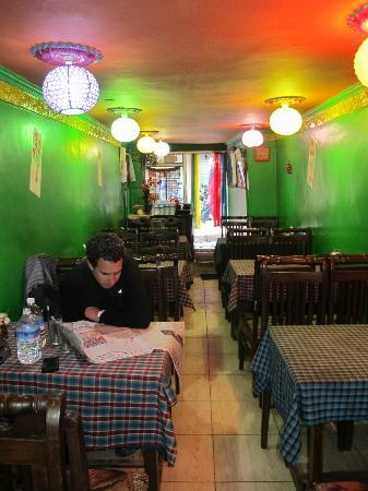 Malabar Restaurant : The inside of the small restaurant from where I was seating
