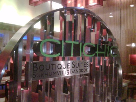 Citichic by iCheck Inn: Hotel signage at the main entrance