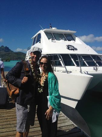 The St. Regis Bora Bora Resort: Biggest Boat to Pick us up at Airport