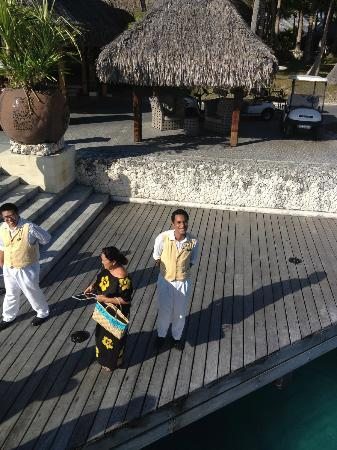 The St. Regis Bora Bora Resort: Moetini our Butler for the Fond Farewell. MISS YOU ST. REGIS