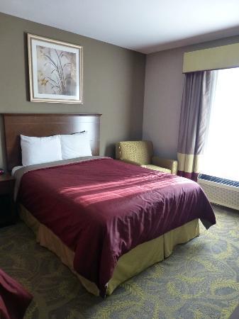 Carpenter Street Hotel: Notre chambre avec ses deux lits queen size