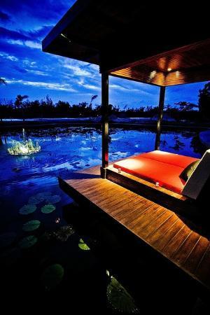 Lotus Villas & Resort Hua HIn: View from a sala at the lake