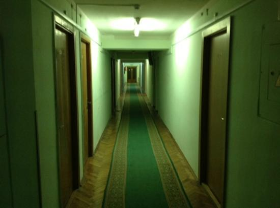 Slavutych Hotel: Corridors with lighting