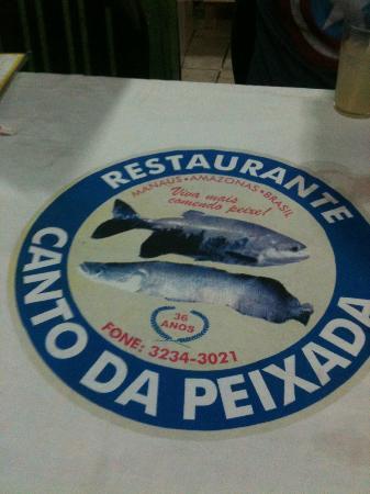 Canto Da Peixada: Seated at the table