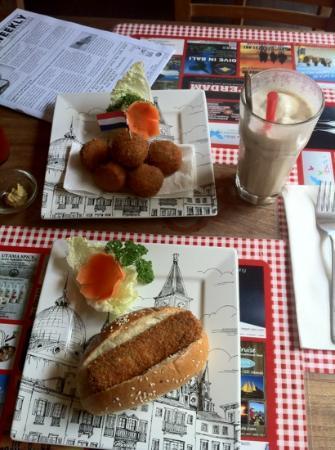 Bistro Amsterdam: Bitterballen and Croquette Broodje