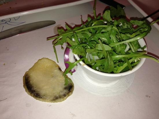 The Oxford Hotel: the black chip and poor salad!