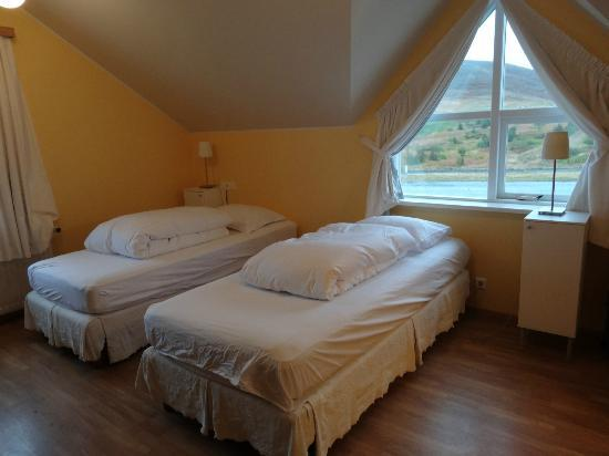 Hotel Reykjahlid: Upon arrival, before the snow.. top floor room