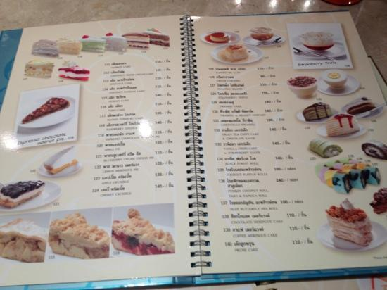 Coffee Bean Cake Menu