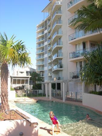 Aspect Caloundra: Part of the pool area