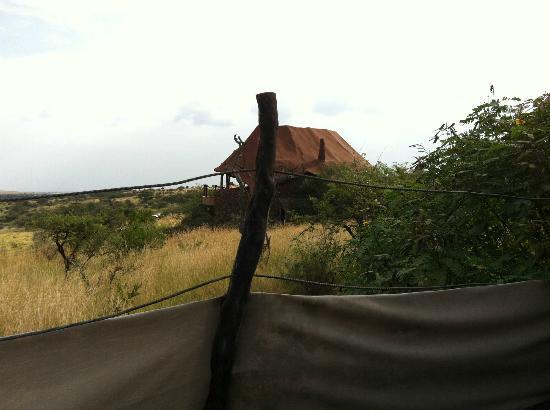 Amani Mara Camp: Blick von der Lodge