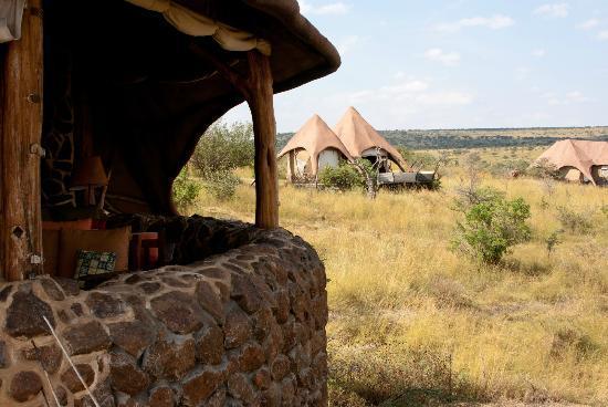 Amani Mara Lodge: Blick vom Haupthaus