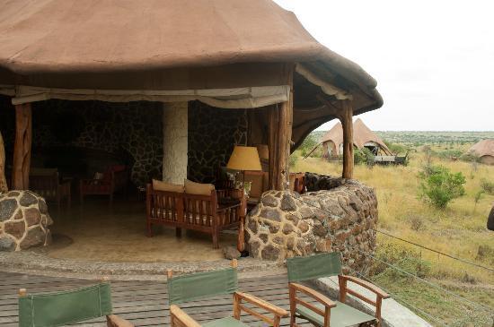 Amani Mara Camp: Das Haupthaus/Balkon