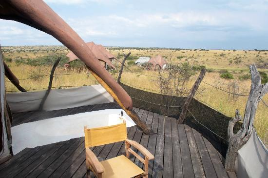 Amani Mara Lodge: Der Balkon der Lodge/Blick in die Natur