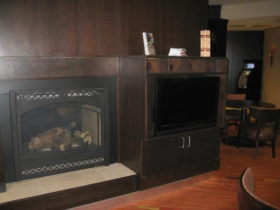 Courtyard Flagstaff: fireplace in lounge