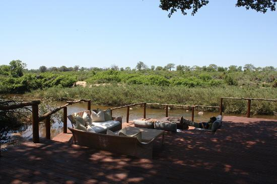 Lion Sands River Lodge: River Deck - relax reading a book, have a drink or the chance to view passing wildlife.