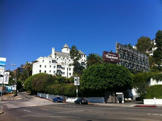 Chateau Marmont: The hotel from Sunset Blvd