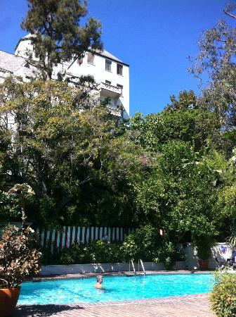 Chateau Marmont: The hotel from pool area
