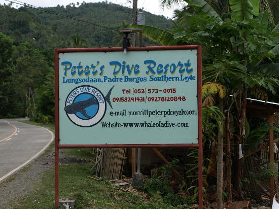 Peters Dive Resort: Peter's Dive Resort sign