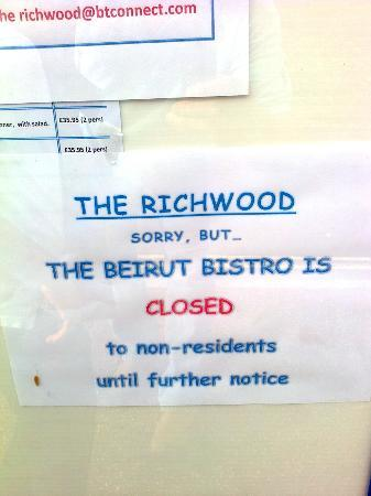The Richwood: bistro