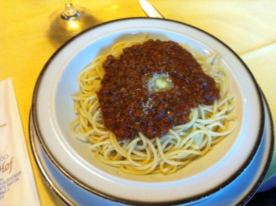 Hotel Restaurant Brunner Hof : spaghetti al ragù
