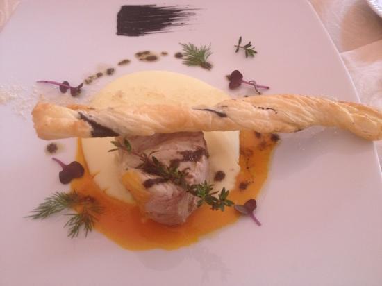 Ristorante Champagne Bar Il San Pietro: cernia con uovo e patate