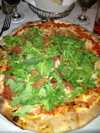 Santa Ynez, Californië: Pizza Ruccola + Parmaschinken