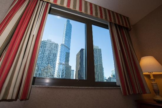 Homewood Suites by Hilton Chicago Downtown: Vista para o Trump Tower