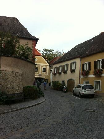 Hotel Richard Löwenherz: Area in front of hotel