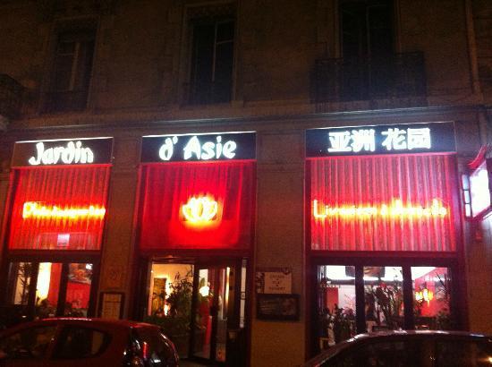 le jardin d'asie: Entrance to the restaurant