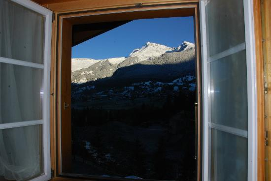 Gletscherschlucht: the view from the room