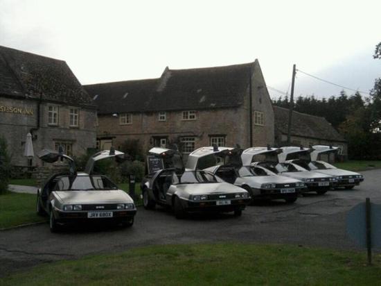 The Sibson Inn Hotel Restaurant: Delorean club uk Oct 2012 meet