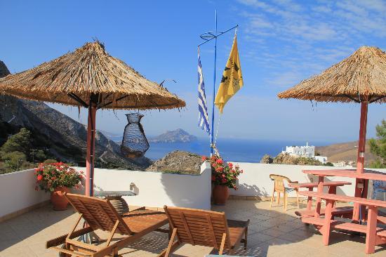 Pagali Hotel: Terrasse sur le toit