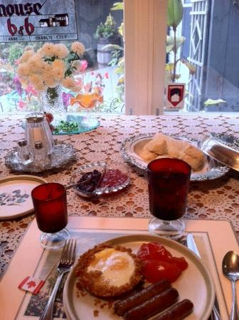 Cranberry House Bed & Breakfast: A perfect breakfast! 