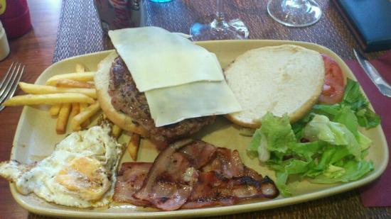 Restaurante Pipol: hamburguesa 350gr