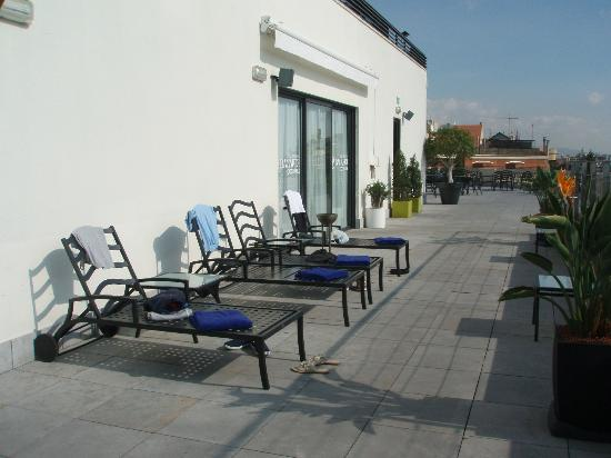 Barcelona Center Hotel: Roof terrace with jacuzzi