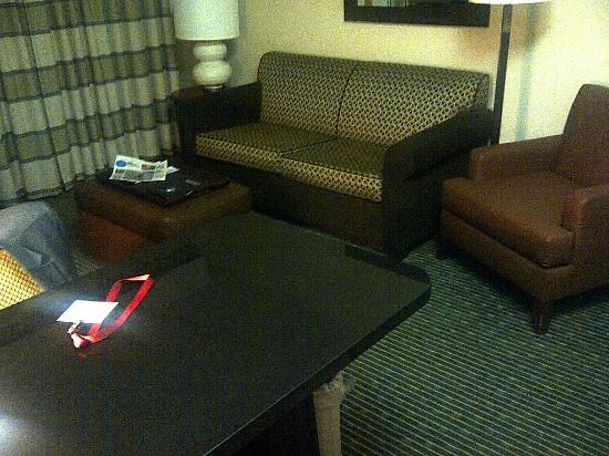 Homewood Suites by Hilton Minneapolis - Mall of America: living room part of the suite