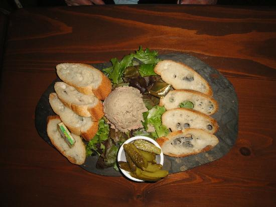 Blue Dahlia Bistro: Menu item ~ Truffled duck mousse pate platter