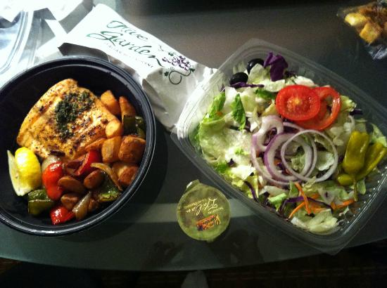 take out salmon and salad picture of olive garden orlando tripadvisor