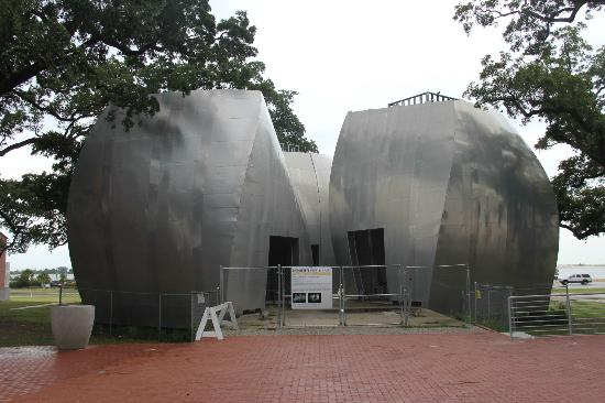 Ohr-O'Keefe Museum of Art: Unfinished pavilions.