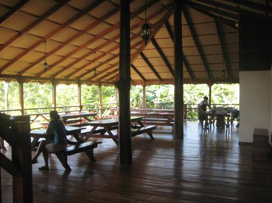 La Anita Rainforest Ranch: Open air dining over looking the rain forest