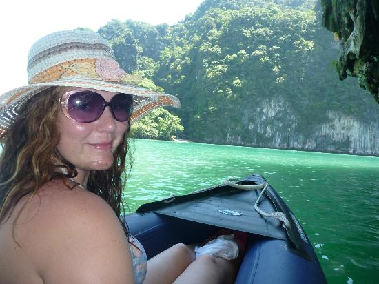 Phuket Sail Tours: Canoeing through the caves and around the most beautiful rocks...