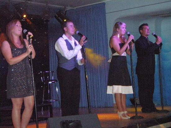 "Yaramar Hotel: Great entertainment, Dan, Craig, Ellie (""L The Limp"") and Millie."